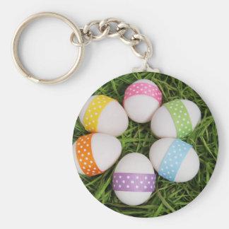Pastel Circle of Eggs Basic Round Button Keychain