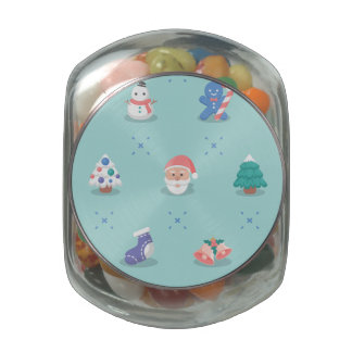 Pastel Color Christmas Characters Seamless Pattern