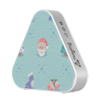 Pastel Color Christmas Characters Seamless Pattern Blueooth Speaker