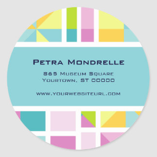 Pastel Color Grid (Aqua) Sticker
