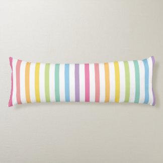 Pastel Color Rainbow Stripes Pattern Body Pillow