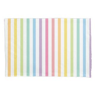 Pastel Color Rainbow Stripes Pattern Pillowcase