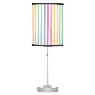 Pastel Color Rainbow Stripes Pattern Table Lamps
