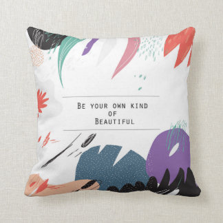 Pastel Color Splash with Quote Throw Pillow