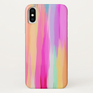 Pastel Colored Abstract Background #10 iPhone X Case