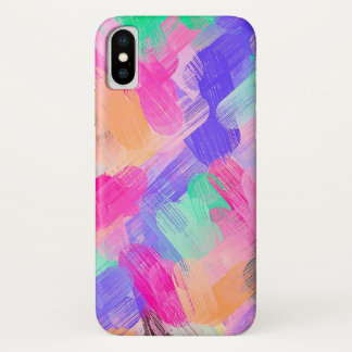 Pastel Colored Abstract Background #7 iPhone X Case