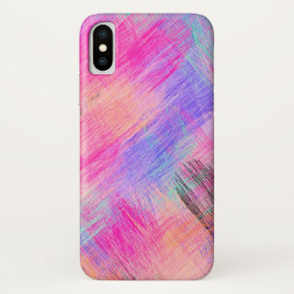 Pastel Colored Abstract Background #9 iPhone X Case