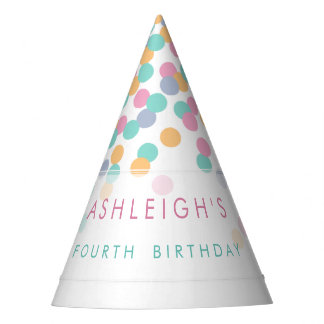 Pastel Colored Confetti | Kids Birthday Party Party Hat