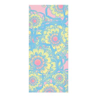 Pastel colored daisies rack card design