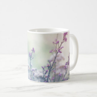 Pastel colored flowers and herbs coffee mug