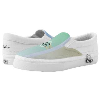 Pastel Colored Monogram Slip-On Sneakers