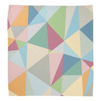 Pastel Colorful Modern Abstract Geometric Pattern Bandanna