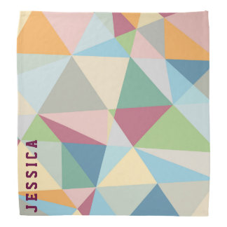 Pastel Colorful Modern Abstract Geometric Pattern Do-rags