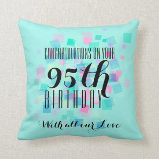 Pastel Colors 95th Birthday Custom Pillow 3