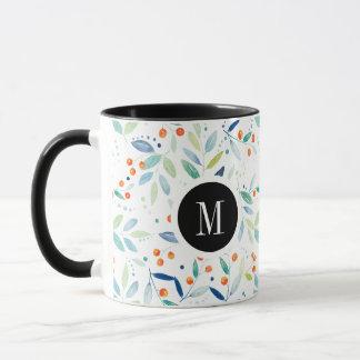Pastel Colors Delicate Floral Pattern Mug