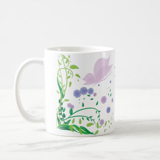 Pastel colors floral ornament design coffee mug