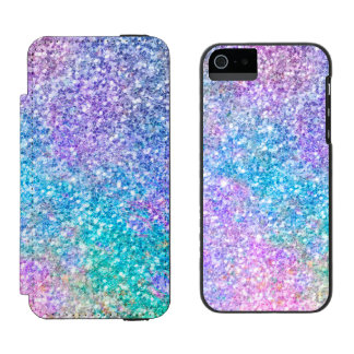 Pastel Colors Glitter Pattern Incipio Watson™ iPhone 5 Wallet Case