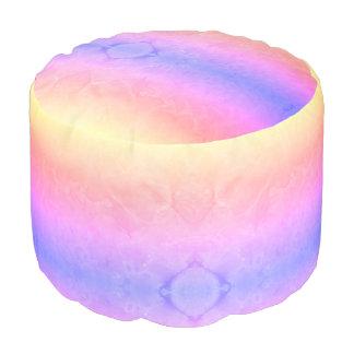 Pastel Colors Marble Texture Pouf