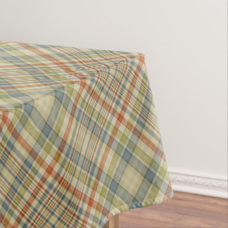 Pastel colors plaid pattern tablecloth