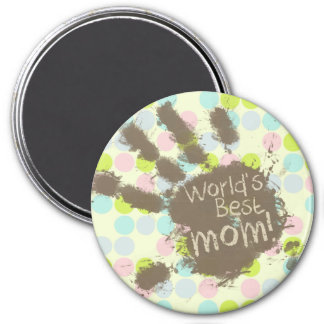 Pastel Colors, Polka Dot; Funny Mom Refrigerator Magnets