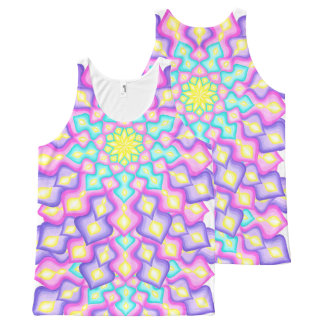 Pastel Colors Spring Blossom Mandala Pattern All-Over-Print Tank Top