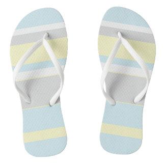 Pastel Colors Stripes Flip Flops