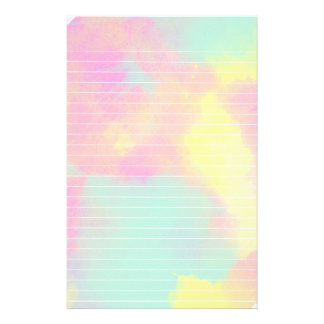 Pastel Colors Watercolor Lined Paper