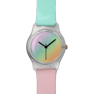 Pastel colors wrist watch