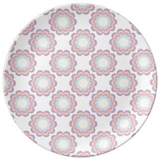 Pastel Colour Flower Pattern Plate