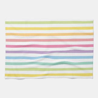 Pastel Colour Rainbow Stripes Pattern Towels