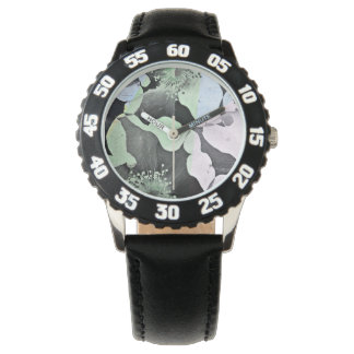 Pastel colour romantic flower nature pattern art watches