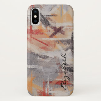 Pastel Coloured Abstract Pattern iPhone X Case