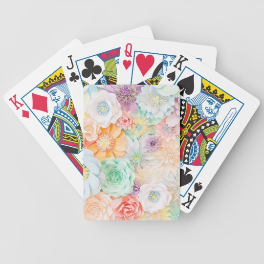 Pastel coloured playing cards
