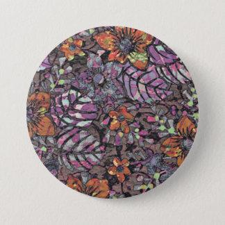 Pastel Colours floral pattern romantic digital art 3 Inch Round Button