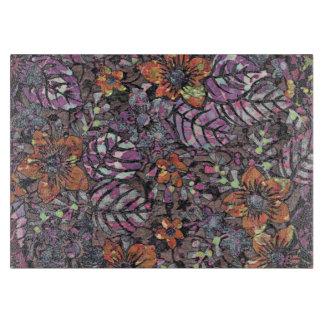 Pastel Colours floral pattern romantic digital art Cutting Board