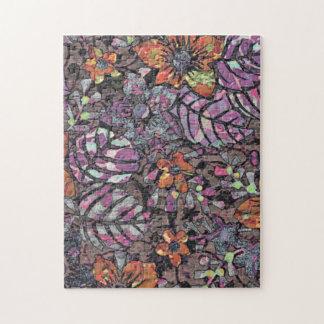 Pastel Colours floral pattern romantic digital art Jigsaw Puzzle