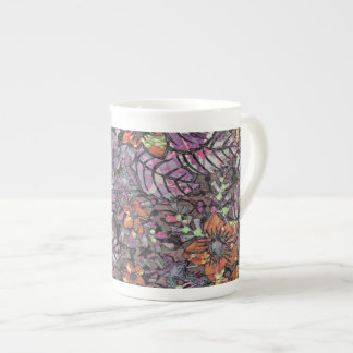Pastel Colours floral pattern romantic digital art Tea Cup