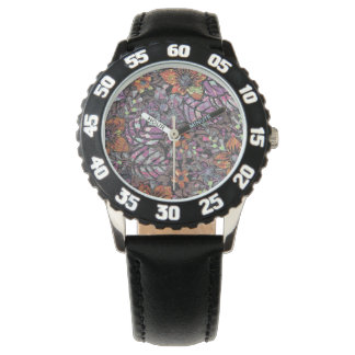 Pastel Colours floral pattern romantic digital art Watch