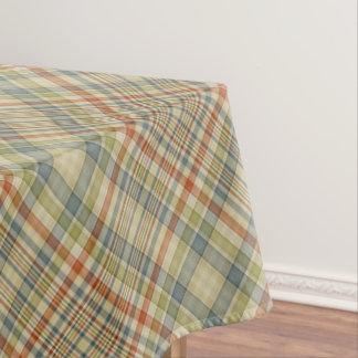Pastel colours plaid pattern tablecloth