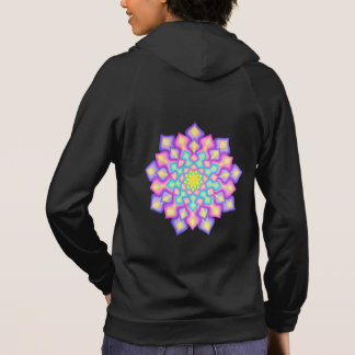Pastel Colours Spring Abstract Mandala Hoodie