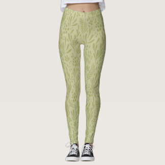 Pastel,Contemporary Foral Design Leggings