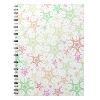 Pastel Crop Circle Spiral Notebook