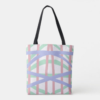 Pastel Crosshatch Design Tote Bag