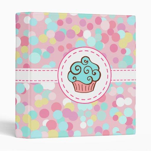 Pastel Cupcake Binder