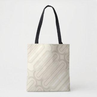 Pastel Curvy Lines Vintage Pattern Tote Bag