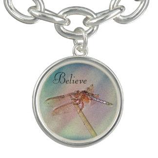 Pastel Custom Dragonfly Charm Bracelet