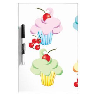 Pastel Cute Cupcakes Dry Erase Board