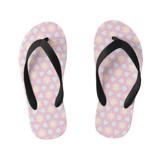 Pastel daisy fun kid's flip flops