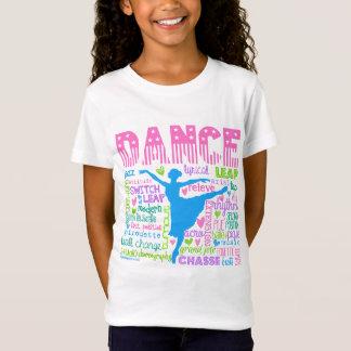 Pastel Dancer Words Typography T-Shirt