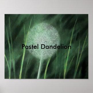 Pastel Dandelion Poster